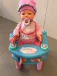 Bambola Baby Amore Nel Sediolone Con Cuiccio E Biberon