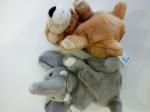 Gioco Pelusce Marionetta Animali Leone Elefante Bauer