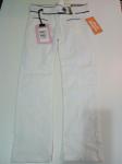 Pantalone Bimba Bianco Bordini Blu 5 A Sarabanda Nuono