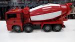 Camion Con Betoniera Rosso
