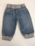 Pantaloni Tipo Tuta Con Inserto In Jeans 3/6 Mesi Bimbo