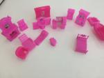 Sacchetto Misto Arredamento Per Casa Bambola In Plastica