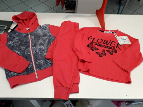 Nuovo Completo Tuta Bimba 36 Mesi 3 Anni: Felpa + Maglia + Pantaloni - Idea Regalo