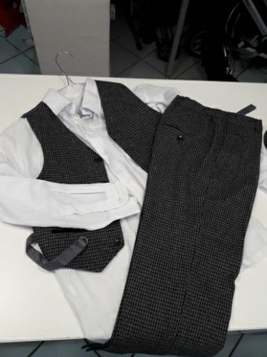 Completo Cerimonia Camicia + Pantaloni + Gilet Bimbo 9 Anni