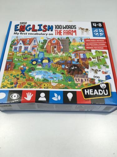 Headu Gioco Puzzle Inglese Fattoria