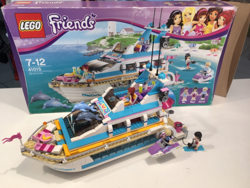 Lego Friends 41015 Yacht Dolphin Cruiser Con Scatola E Istruzioni