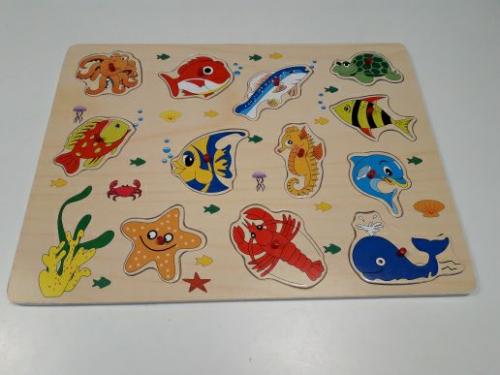 Gioco Legno Puzzle Pesci