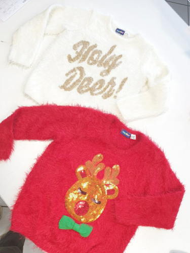 Maglione Peluche Natale 2/4 Anni