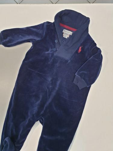 Ralph Lauren Tutina Ciniglia Blu Bimbo 6 Mesi - Firmato Smart