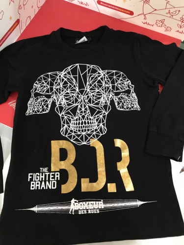 Maglietta Bimbo Nera 8 A Boxeur