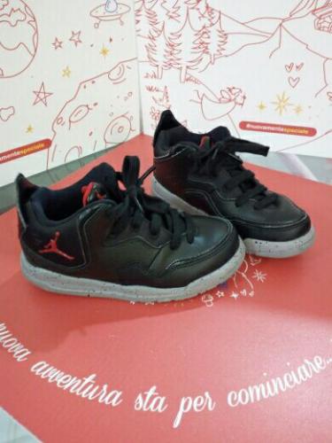 Scarpe Bimbo Nere N. 28 Nike Jordan Nuove Scatola