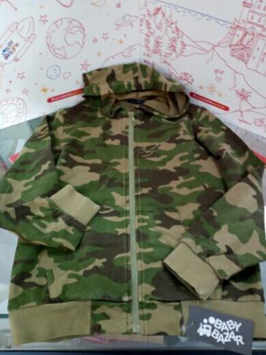Felpa C/capp.Bimbo Militare 10anni Original