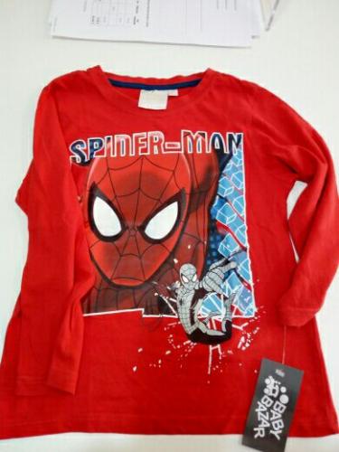 Maglia Bimbo Rossa 6anni Spider-Man
