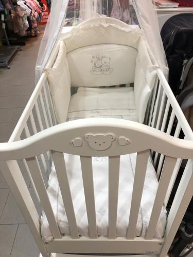 Lettino Bianco Swarosky Baby Italia