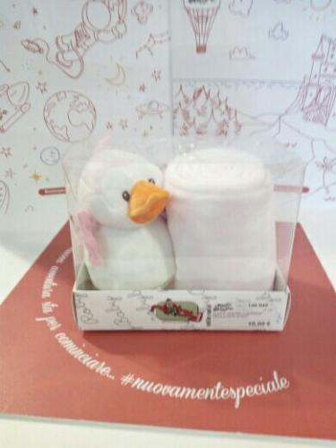 Plaid E Pinguino Confezione Regalo Rosa Nuovo