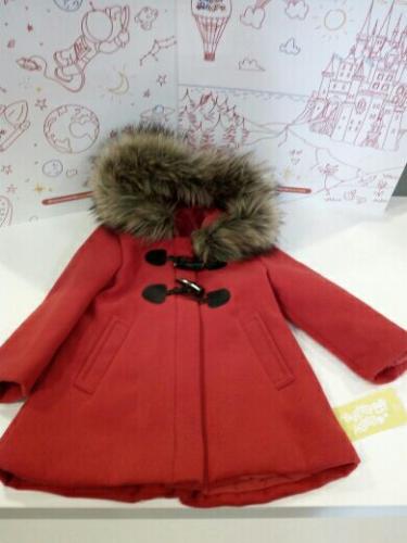 Cappotto Bimba Rosso 2 A