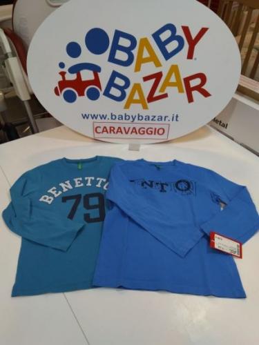Coppia Maglia Bimbo 6/7 Anni Benetton