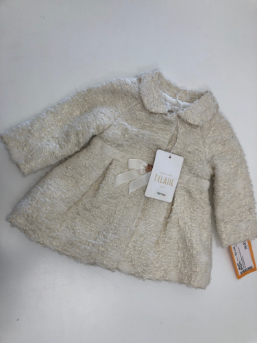 Cappotto Bimba 6m Bianca Alvie Ro Martini