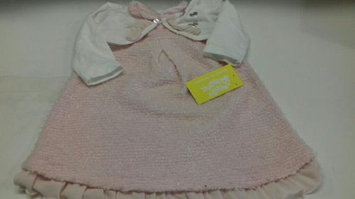 Vestito Bimba 9m Ellepi Rosa Con Coprispalle Bianco