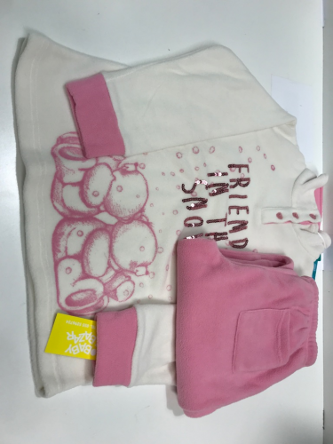Pigiama Bimba 6-7A Micropile Rosa/Bianco - Nuovo