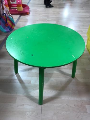 Tavolo Legno Verde Rotondo Ø60